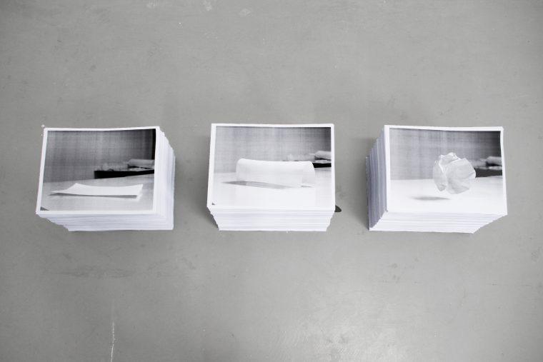 A4 Models, stacks of A4 laser prints, handouts.