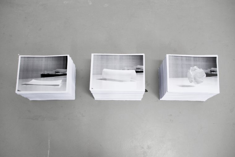A4 Models, stacks of A4 laser prints, handouts.